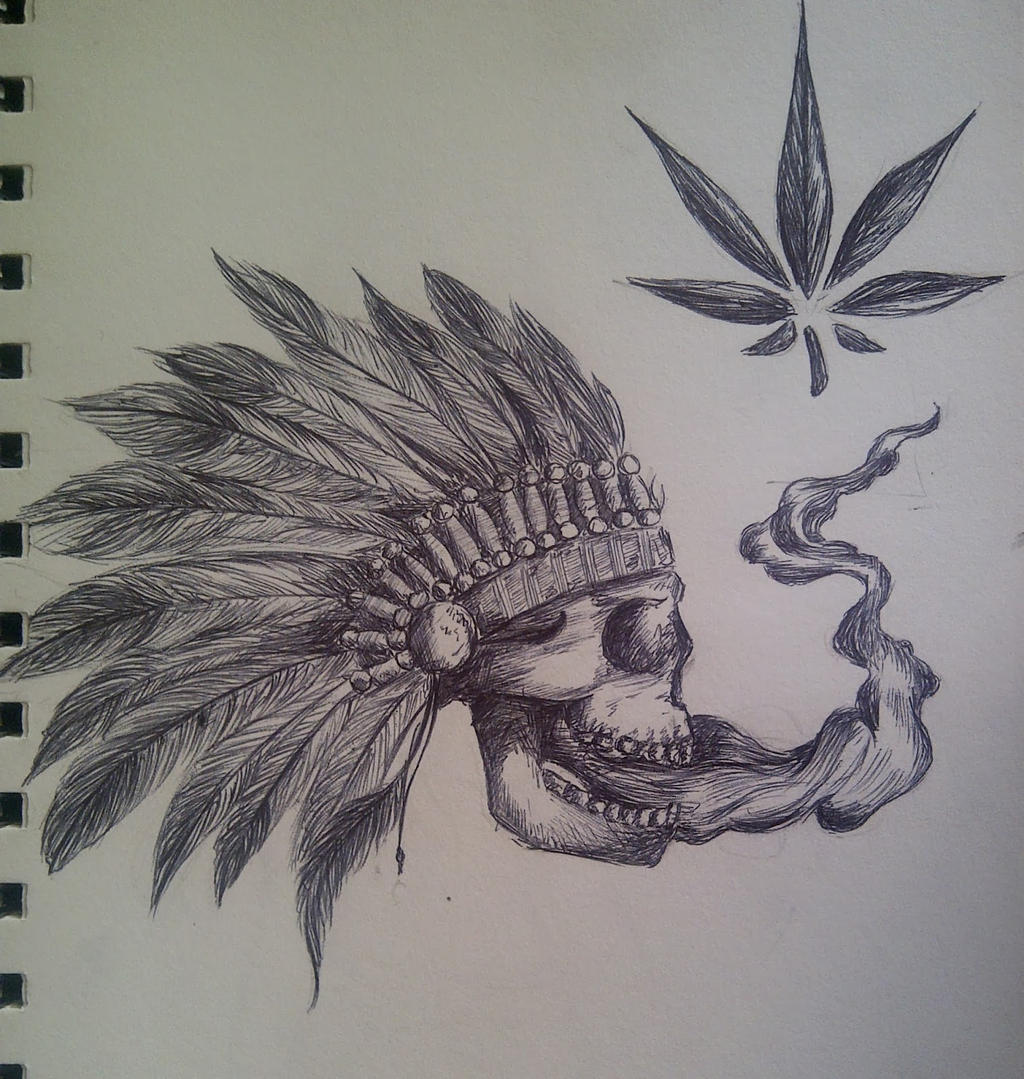 skull smoking weed by maryshavh on deviantart