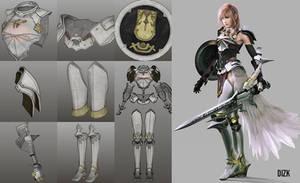 Final Fantasy XIII - 2 Lightning Armor Pepakura !!