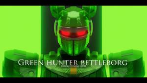 Green Hunter BeetleBorg 3D cgi