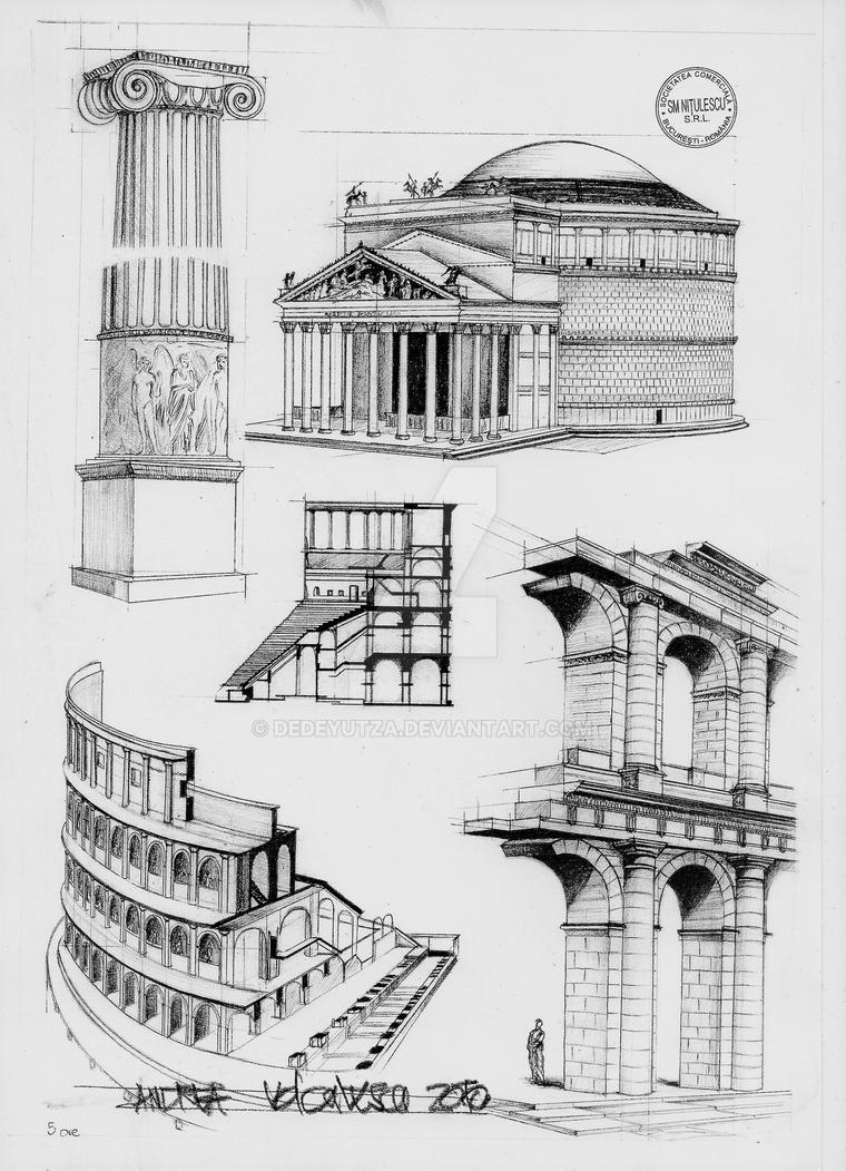 Roman architecture by dedeyutza on deviantart for Art architectural