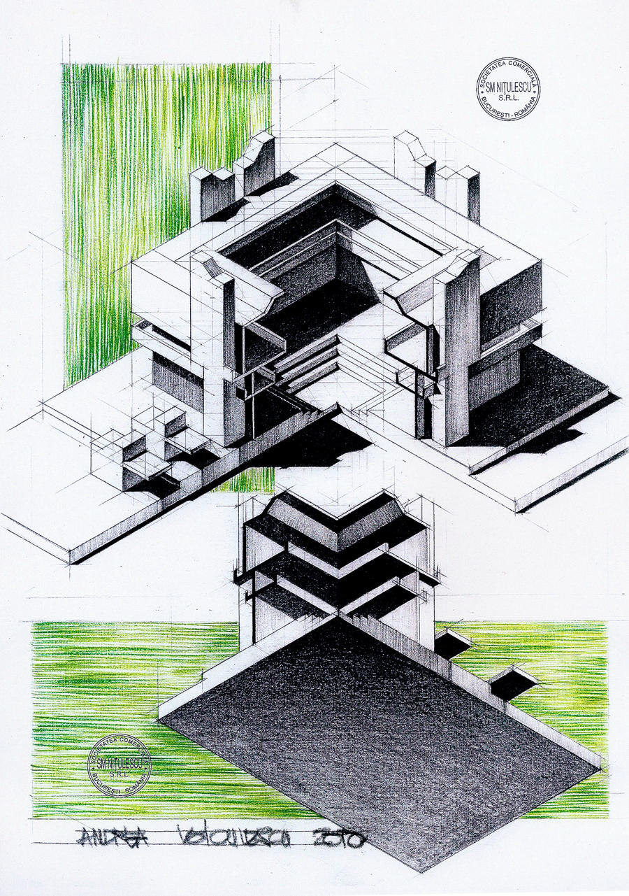 Axonometrie by dedeyutza on deviantart - Architektur zeichnen ...