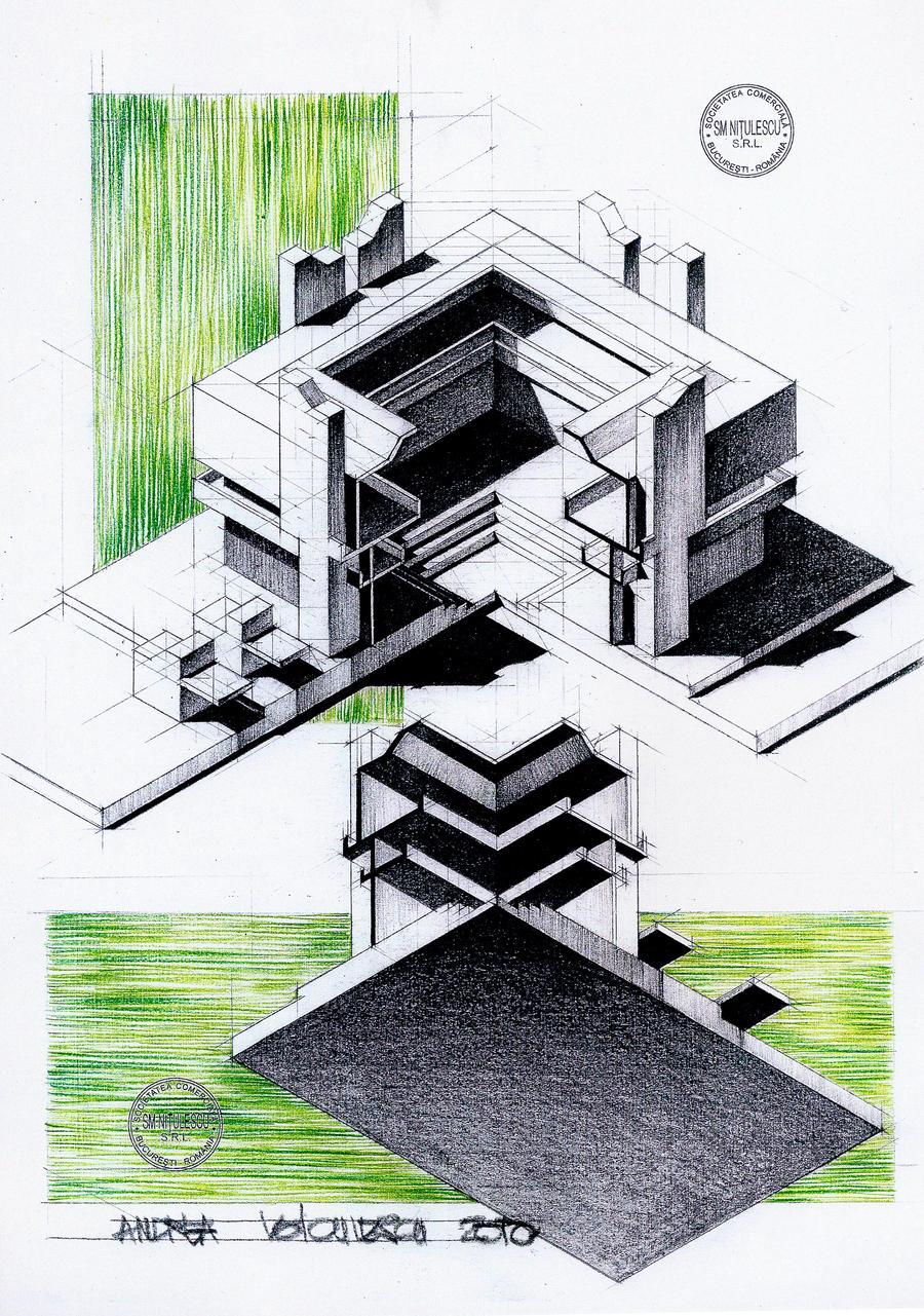 Axonometrie by dedeyutza on deviantart for Architektur axonometrie