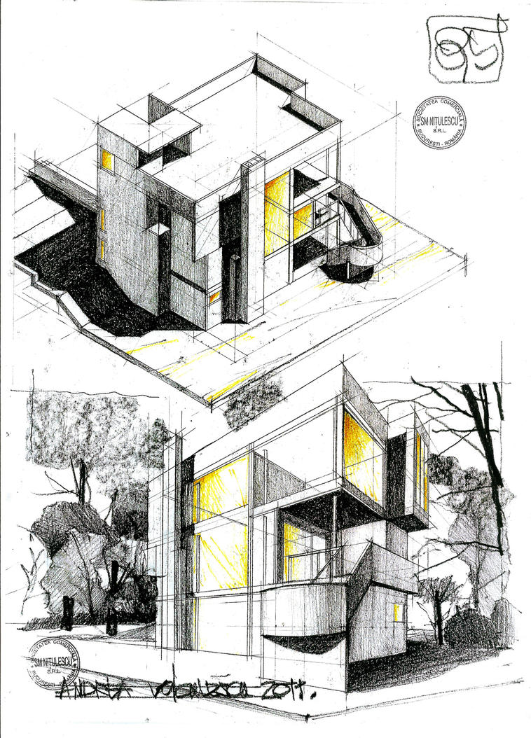 Smith house by dedeyutza on deviantart for Architecture design house drawing