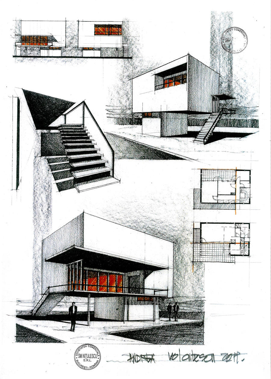 House by horia creanga 2 by dedeyutza on deviantart for Architectural drawings of houses