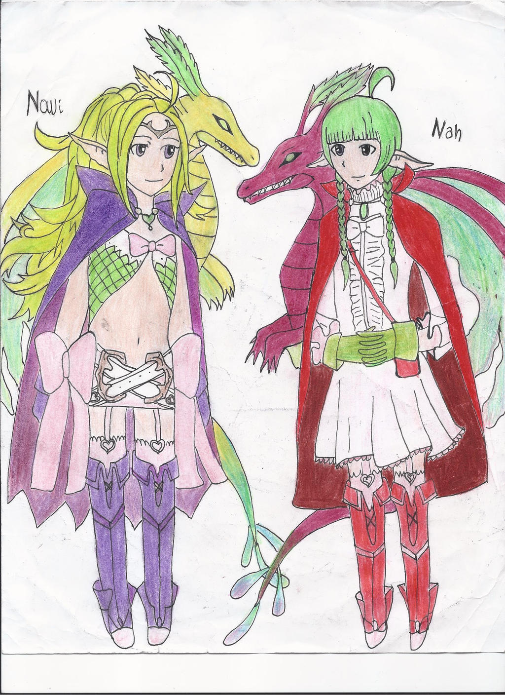 Nowi and Nah by eilujenna on DeviantArt