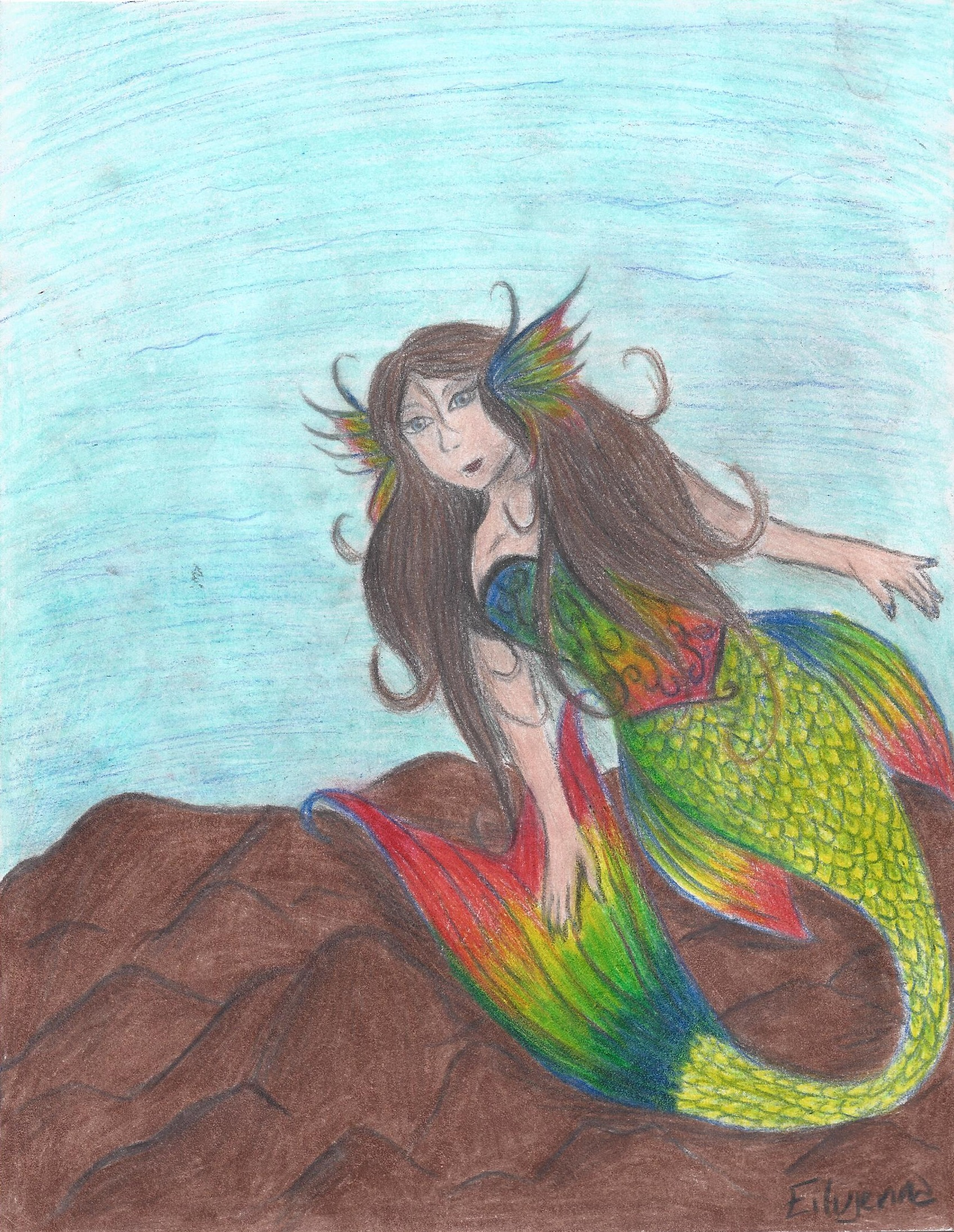 Niji the mermaid! by eilujenna