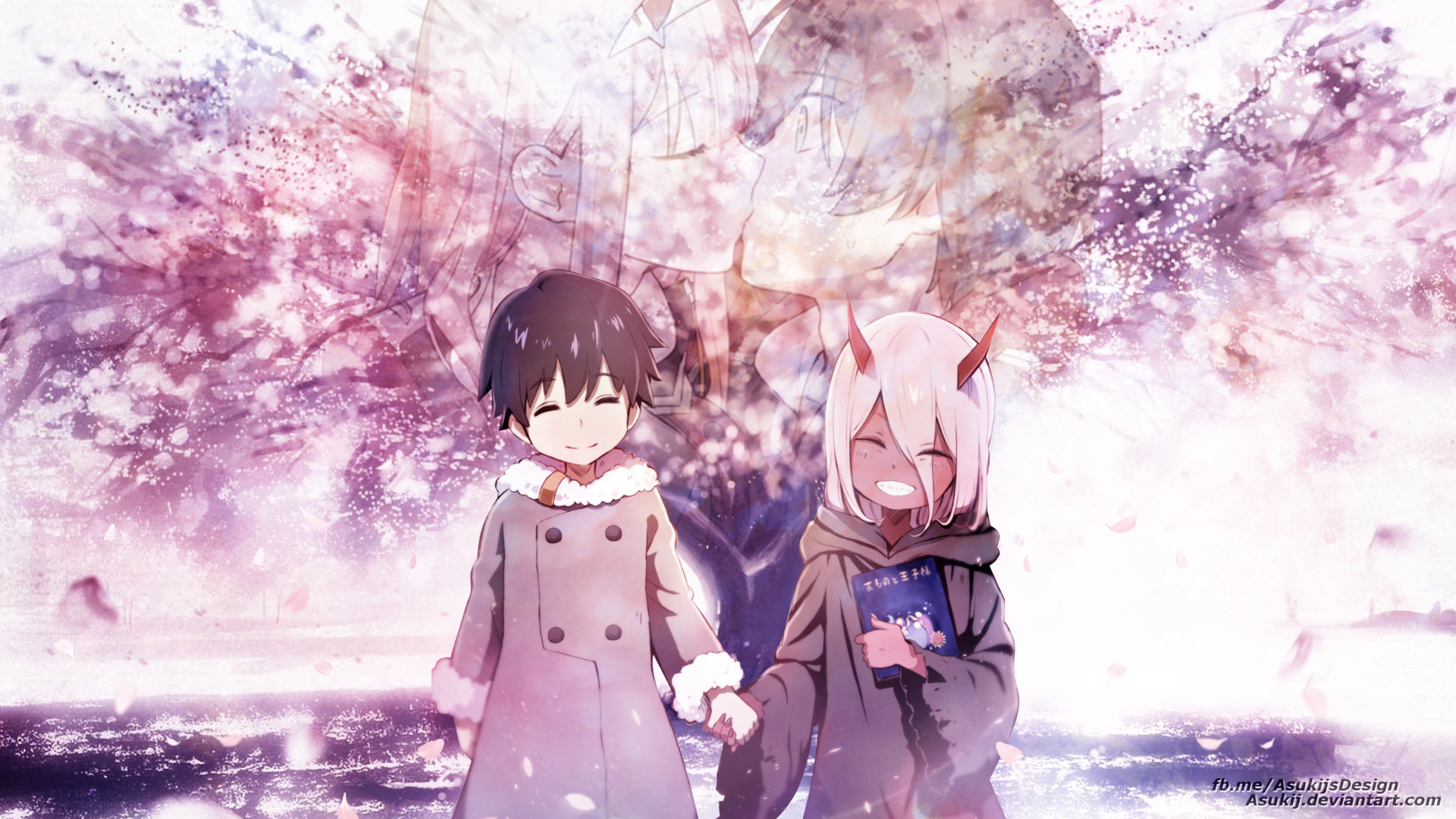 Wallpaper Zero Two Und Hiro By Asukij On Deviantart
