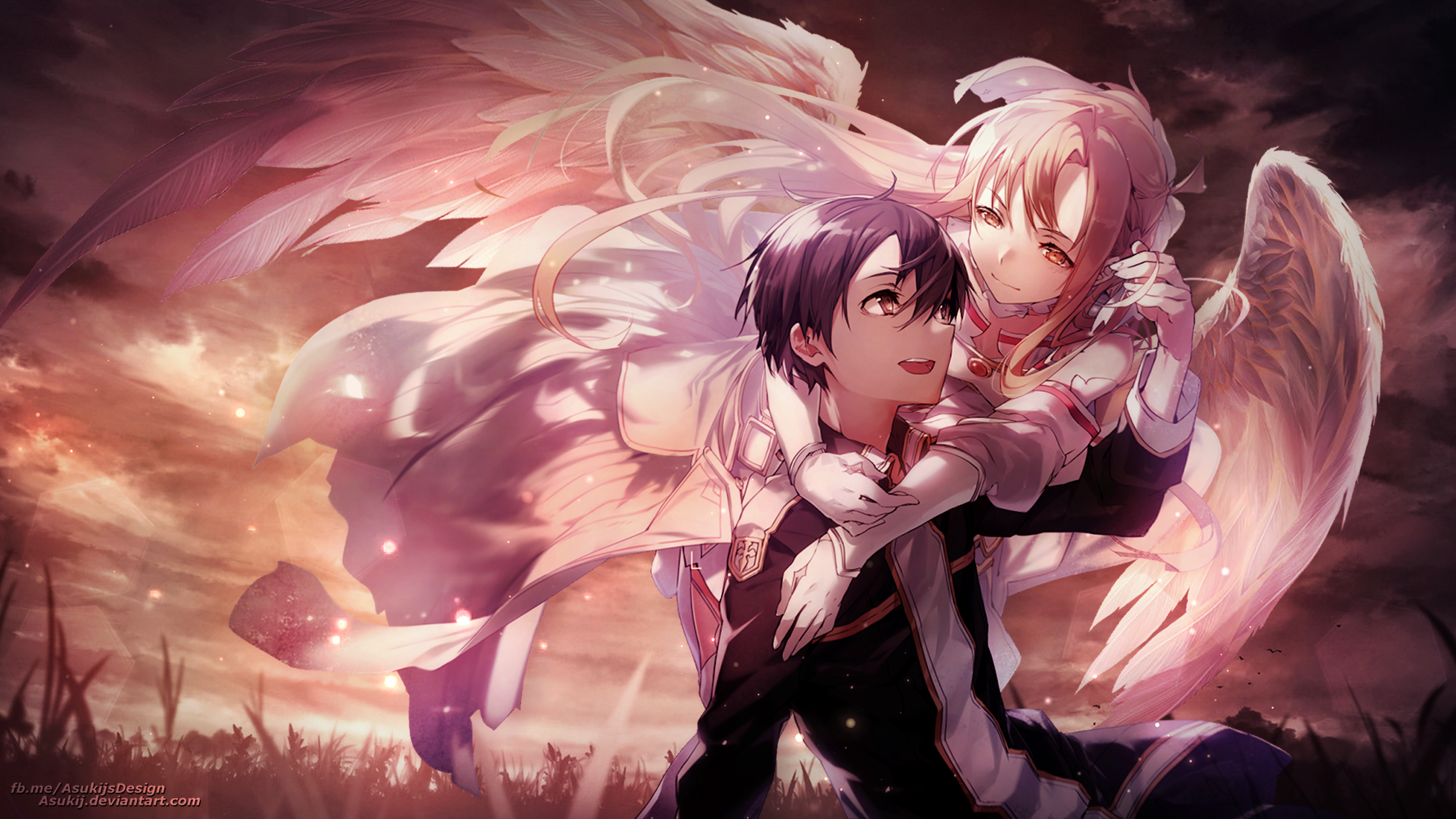 Wallpaper Kirito Und Stacia Asuna By Asukij On Deviantart