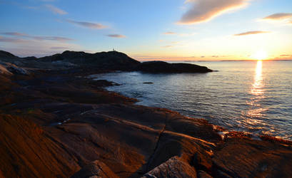 Evening by the sea II by N-o-B