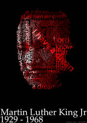 Martin Luther King Jr Typographic Portrait by andrew-payn