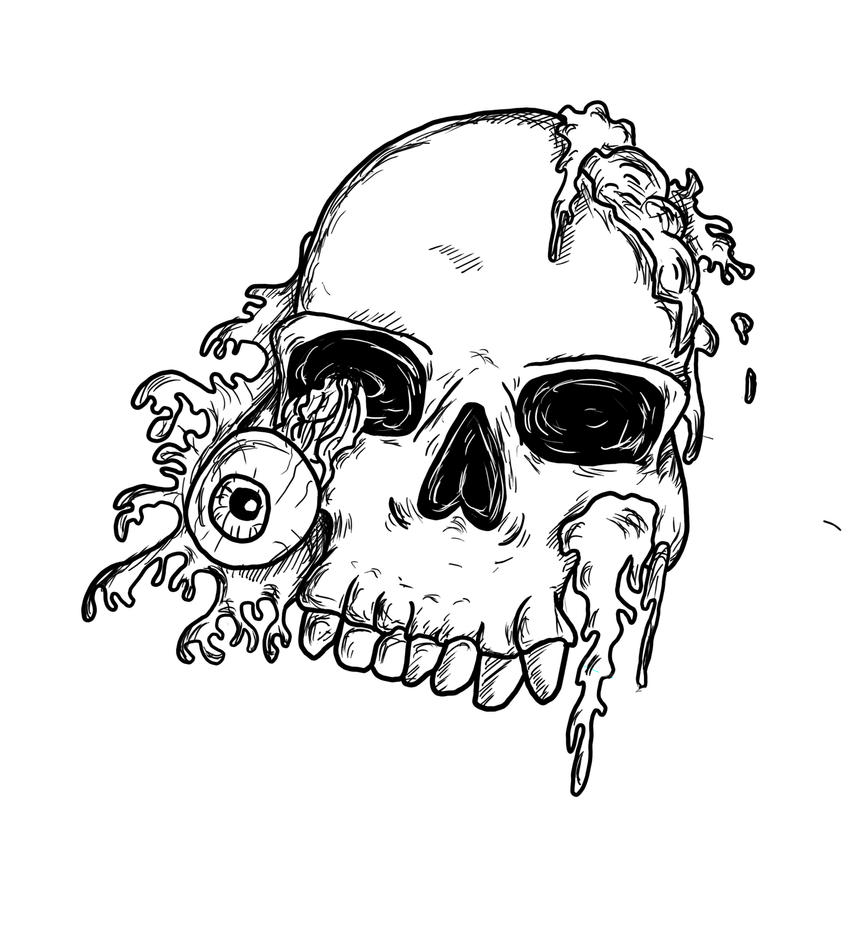 Skull tattoo design by