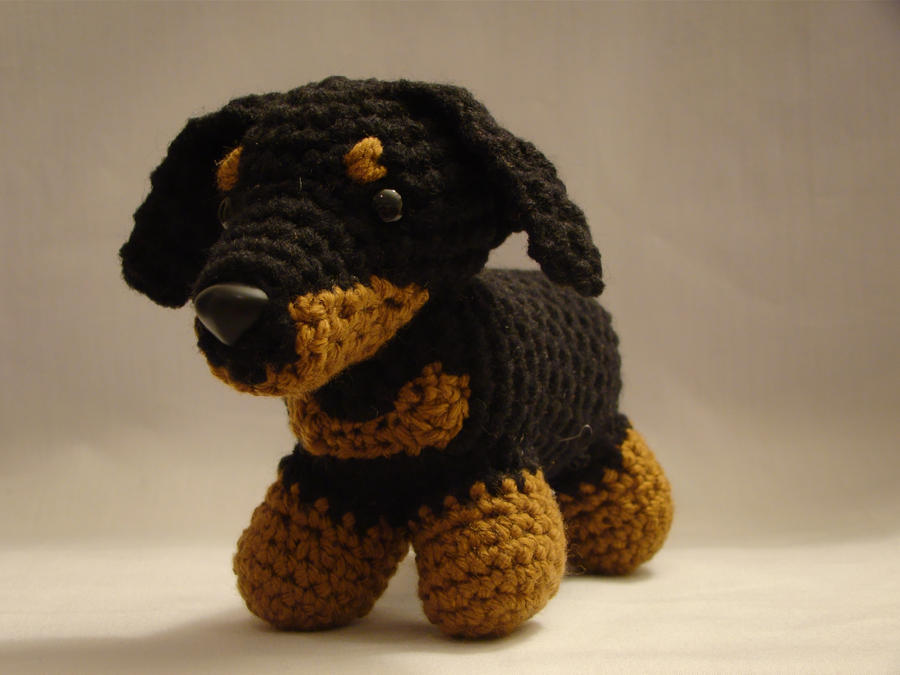 Knitted Dachshund Pattern : Dachshund Crochet by ADayToCrochet on DeviantArt