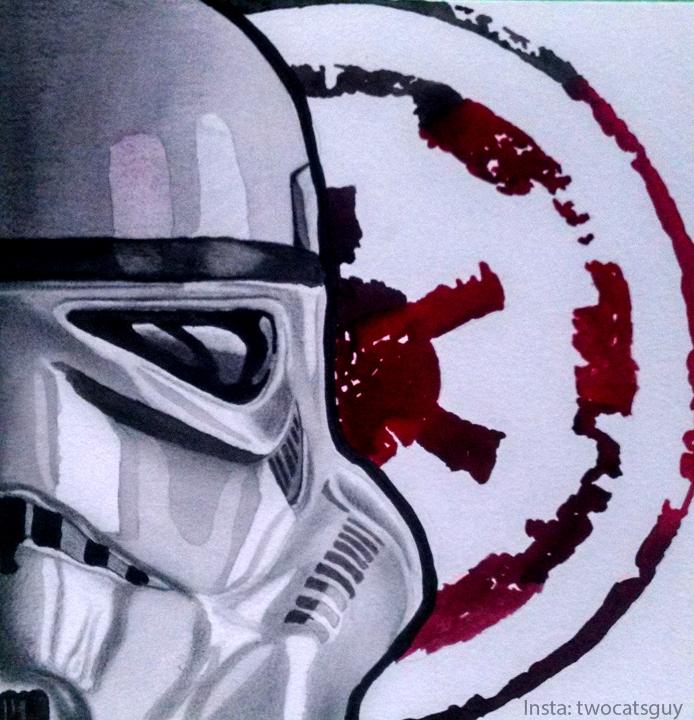 Stormtrooper watercolor by allstarrunner