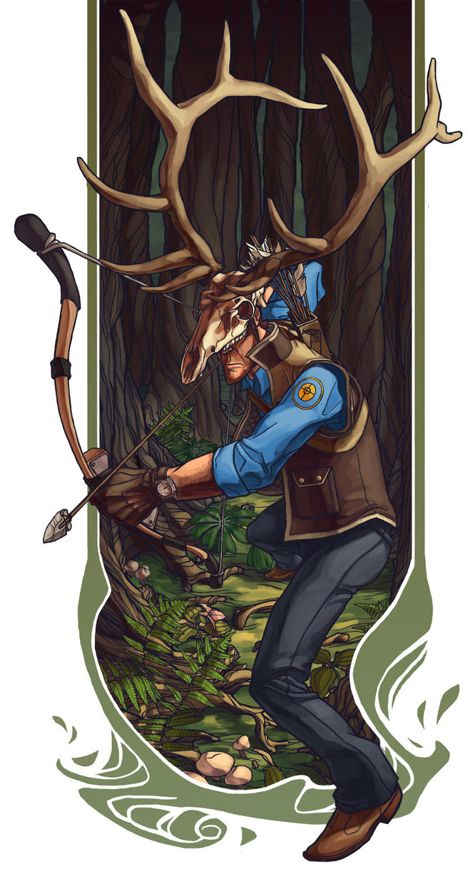 big game huntsman BLU by Syncrasis