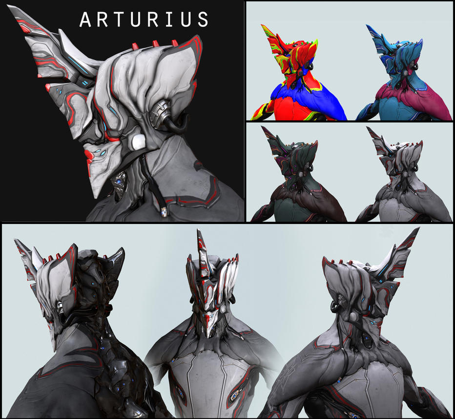 Arturius Alternate Excalibur Helmet Warframe By Syncrasis
