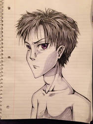 Anime Guy Sketch3 by HawkRose00