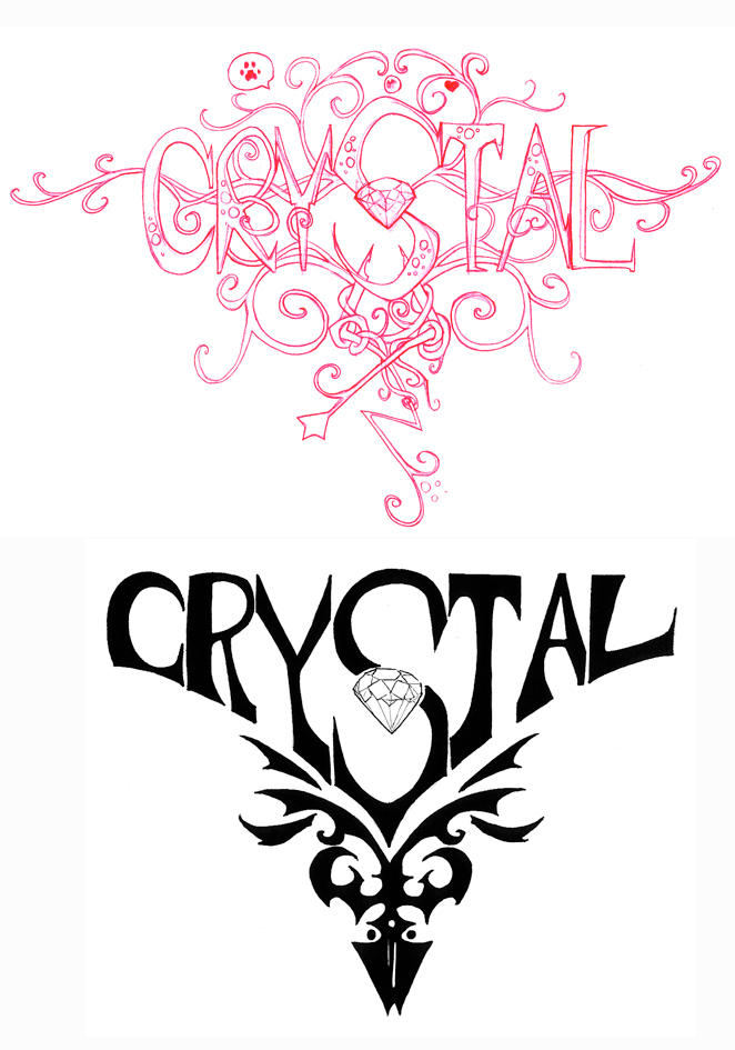 crystal tattoos by doyoujive on deviantart. Black Bedroom Furniture Sets. Home Design Ideas