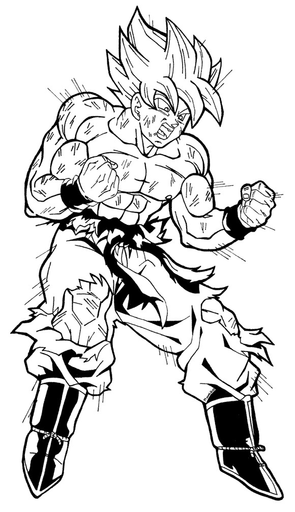 Dbz Kleurplaten Fan Art Goku Super Saiyan Injured By Moncho M89 On