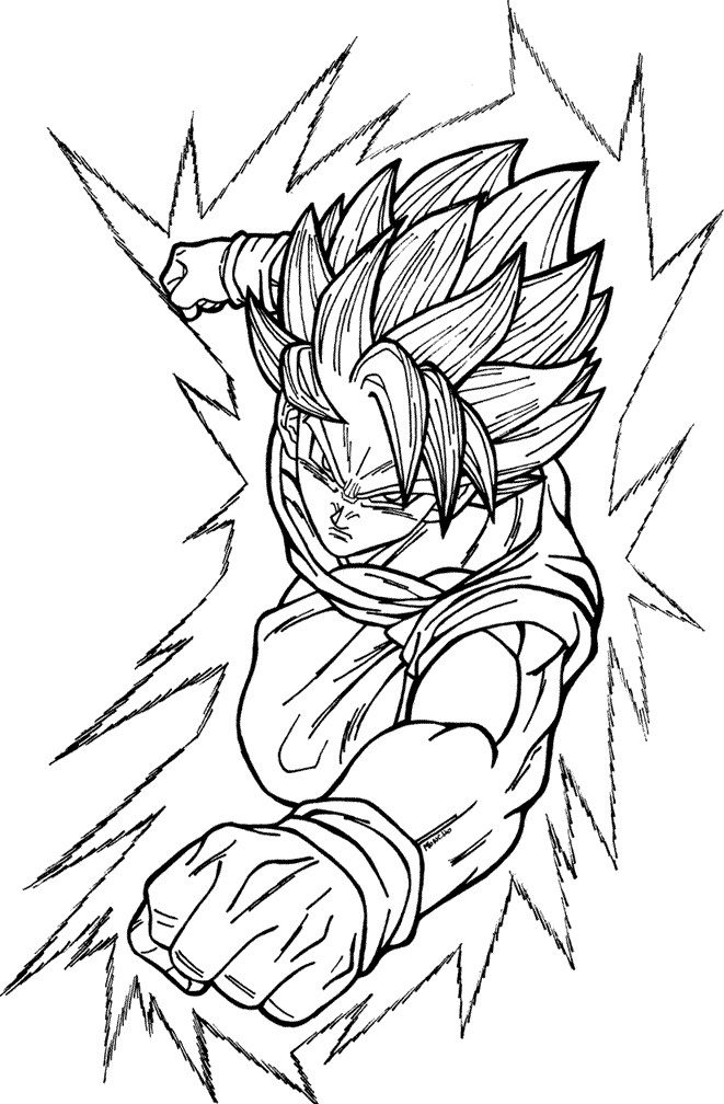 Goku ssj 20 free coloring pages for Super saiyan coloring pages