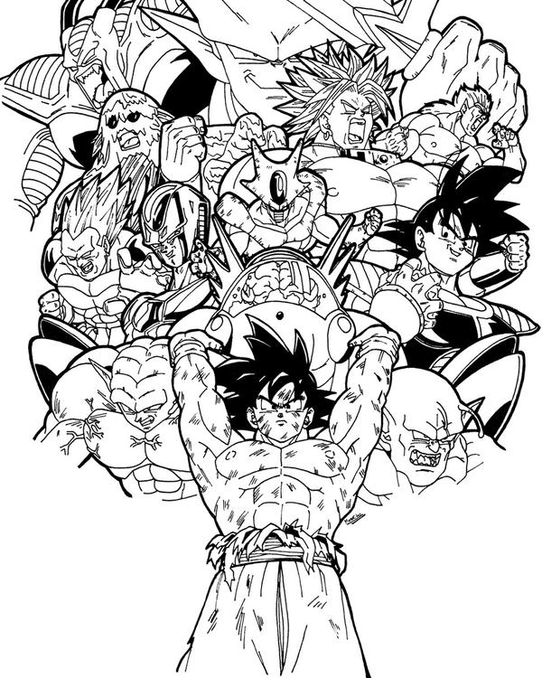 Goku Vs Frieza Coloring Pages