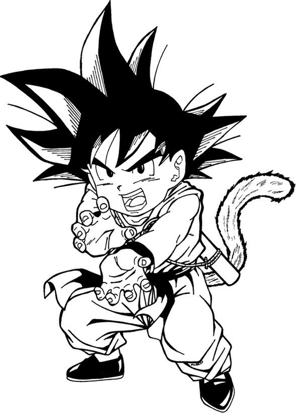 Dibujos buenos para pintar de Dragon ball,z,gt.