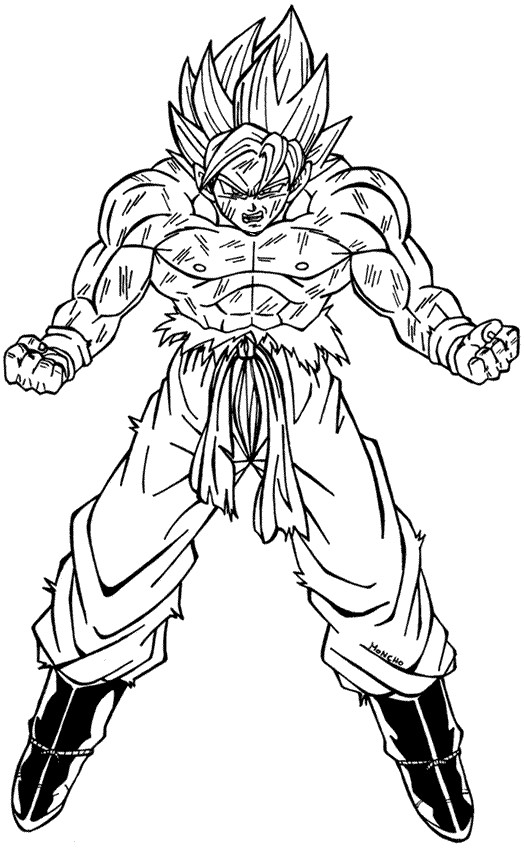 Goku ssj3 para colorear - Imagui