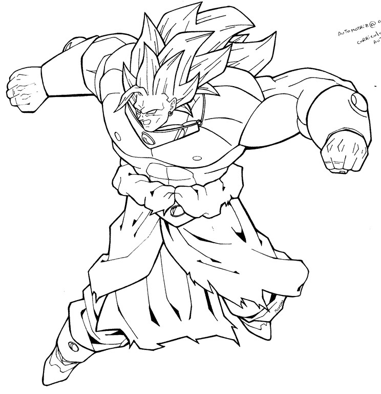 Broly ss3 by moncho m89 on deviantart for Dragon ball z broly coloring pages