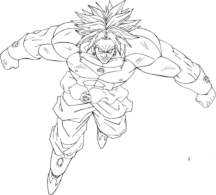 Dragon ball z broly coloring pages ~ broly ssj by moncho-m89 on DeviantArt