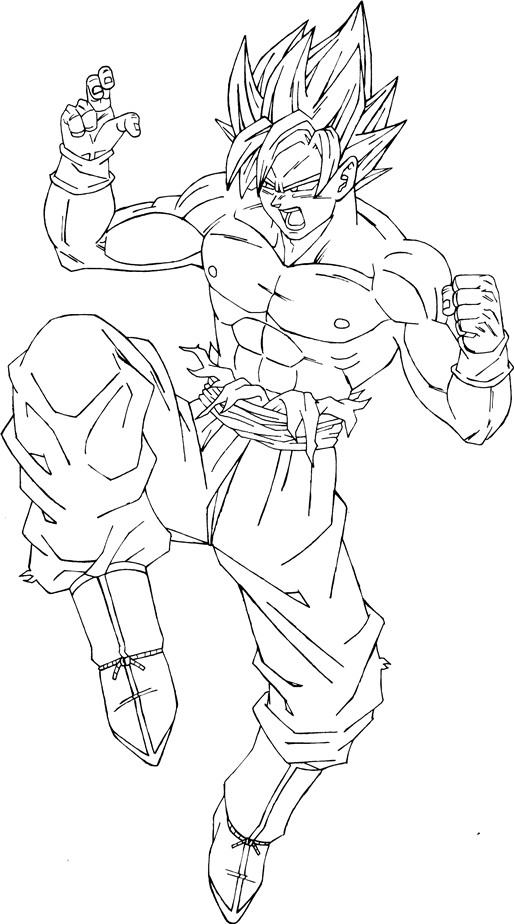 Dibujos de goku ssj 5 - Imagui