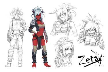 [OC] Zeta (character sheet) by kengkung