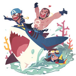 Team Aqua! by Ssalbug