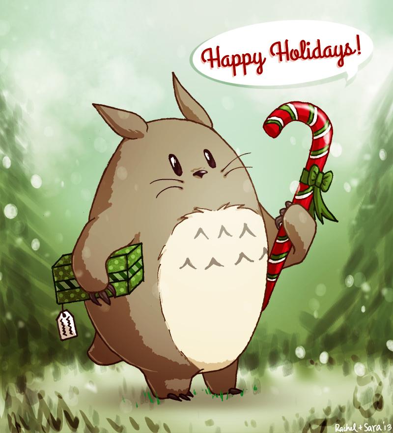 Happy Holidays with Totoro by mumpo