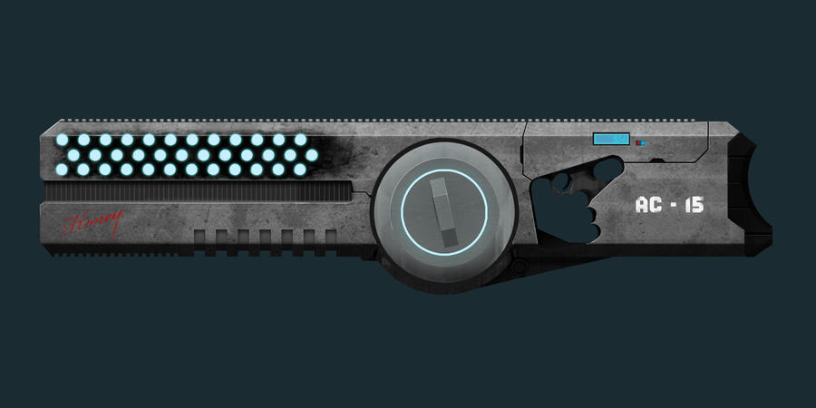 Plasma Attack Rifle WIP_01 by pansejra