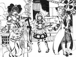 Steampunk in Wonderland by cliomel