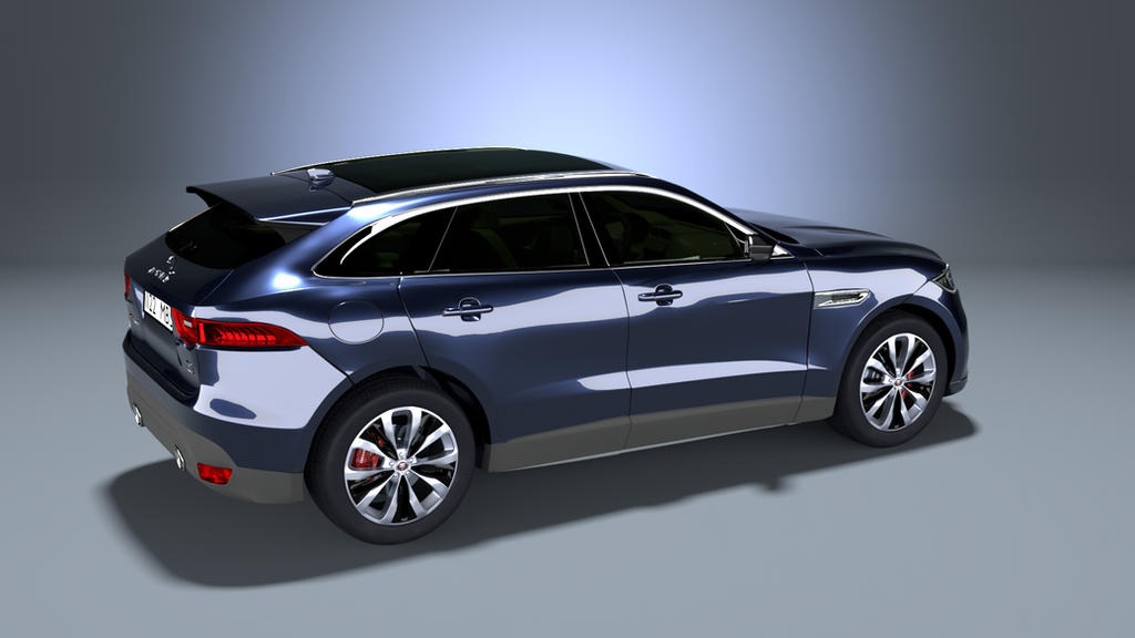 Car 3D model (Jaguar F-PACE) done in Blender by VikiTar