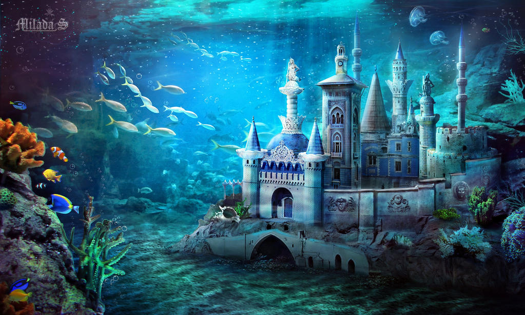 Underwater Mermaid Castle Underwater Mermaid Cas...