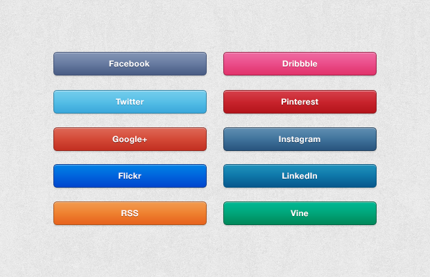 Free Social Media Buttons by TheUltraLinx