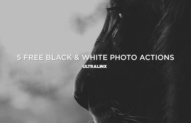 Free Black And White Photo Actions Set