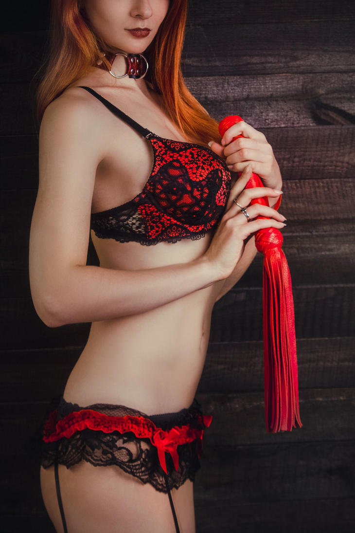 Short Red Flogger by MarquisDeBliss by U-ni-corn