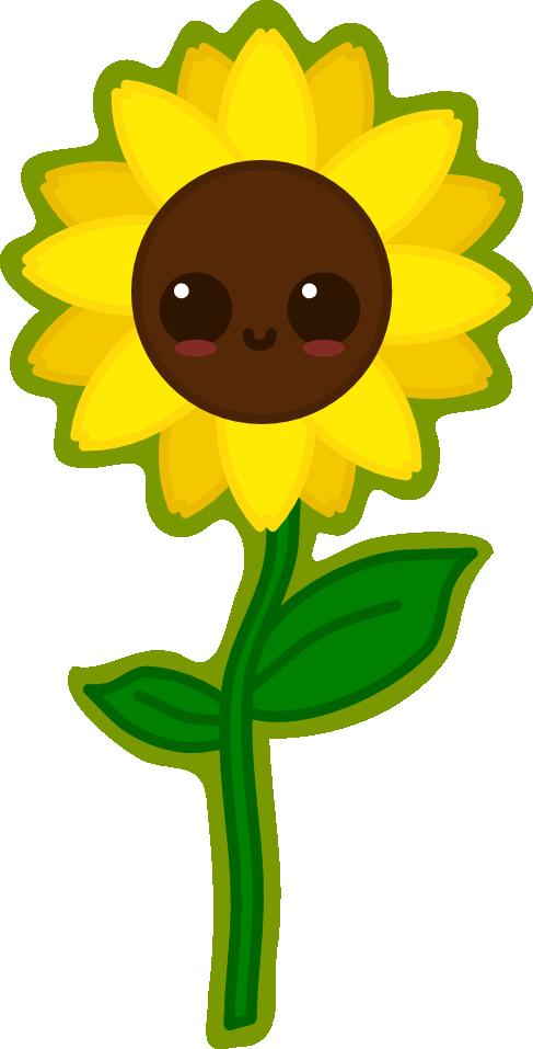 Kawaii Sunflower by amis0129 on DeviantArt