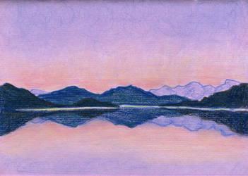 Lunchbrake sketch: Mountain landscape by w176