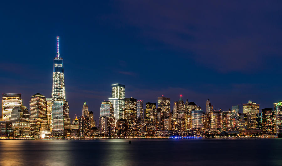 a view of Manhattan from New Jersey