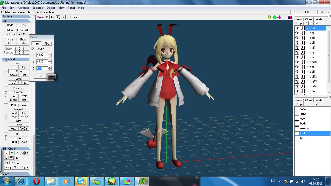 PDA Hatsune Miku Ribbon girl (5/?) metasequoia by johnjan11 on ...