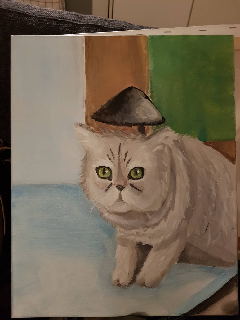 Not soo finished cat painting by Dalin98Zero