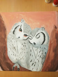 owl painting by Dalin98Zero
