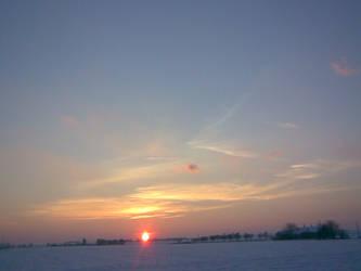 Winter Sunset by brittanyandalvin