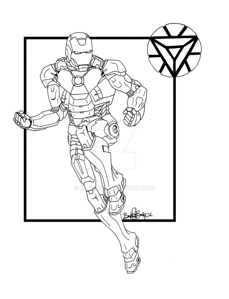 Line Art Man : Iron man line art by moki on deviantart