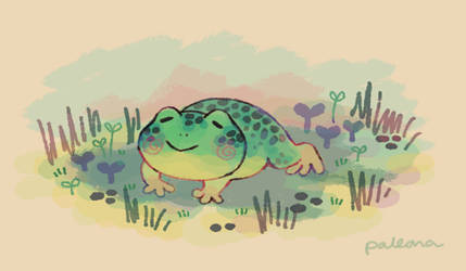 tiny frog doodle