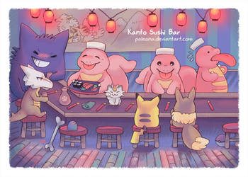 Kanto Sushi Bar by Paleona