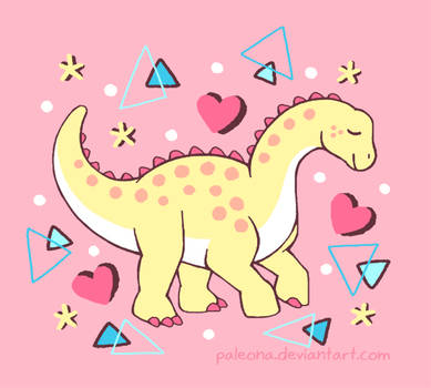 Sweet Sauropod by Paleona